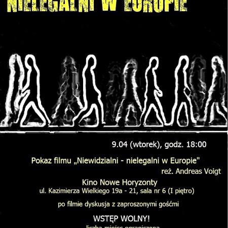 """Pokaz filmu """"NIEWIDZIALNI – NIELEGALNI W EUROPIE"""""""