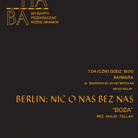 #MARHABA zaprasza! Czwarte spotkanie filmowe: Boza, 07.04.16, godz.18.00