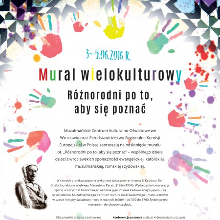 Mural wielokulturowy – Różnorodni po to, aby się poznać, 03 – 05.06.16
