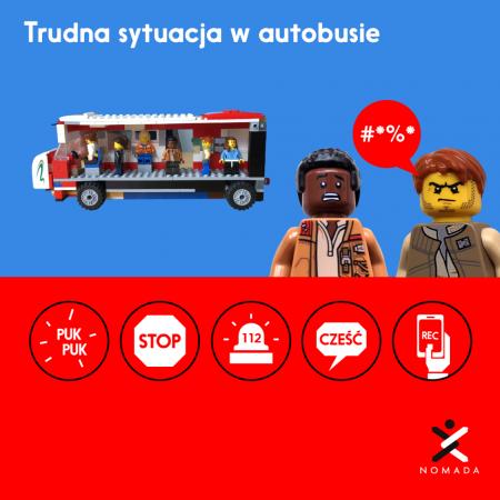 Trudna sytuacja w autobusie